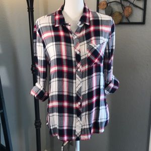 Beachlunchlounge Flannel Button Down